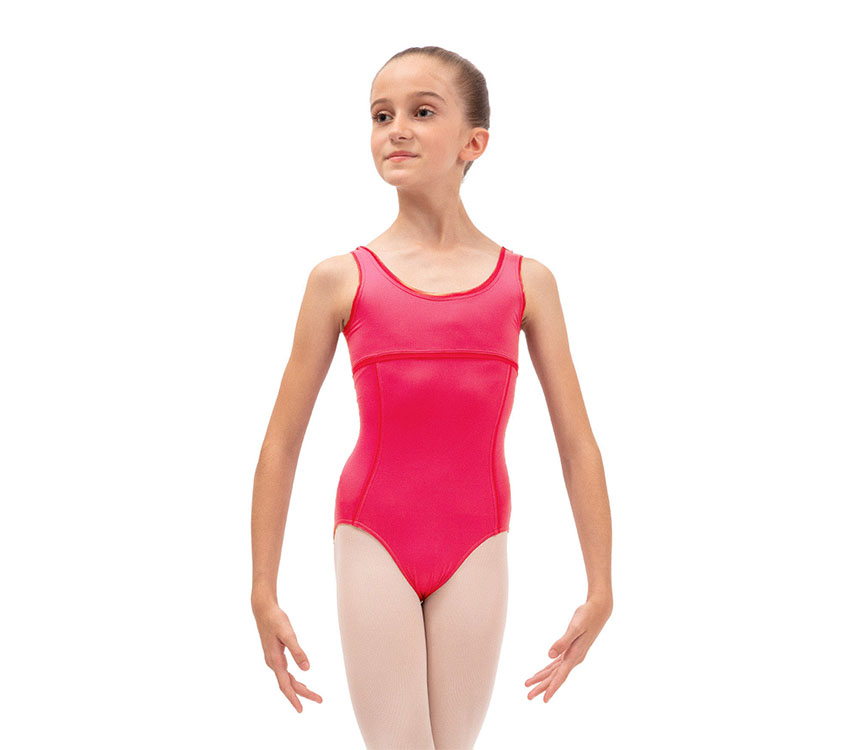 Leotard with large straps  Girls